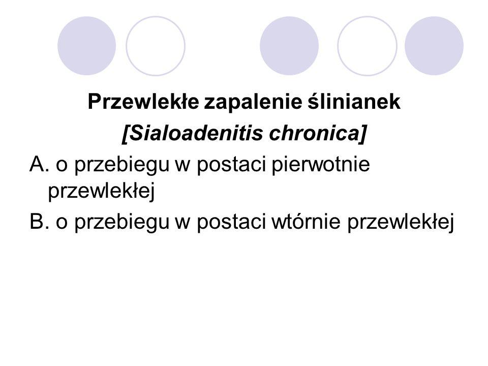 Przewlekłe zapalenie ślinianek [Sialoadenitis chronica]